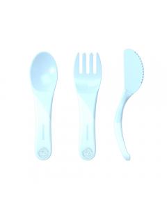 Servicio de aprendizaje Twistshake 6+m azul pastel