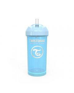 Vaso con bombilla Twistshake Straw Cup 360ml azul pastel