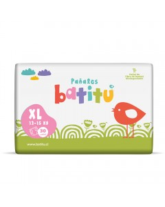 Pañal bambú biodegradable (XL) 12 a 15 kilos - 30 un