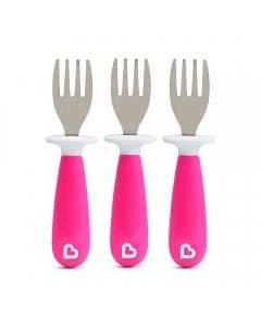 Set de 3 tenedores rosado