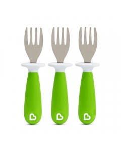 Set de 3 tenedores verde