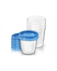 Set vasos para almacenar 180ML (5 Un) Scf619/05