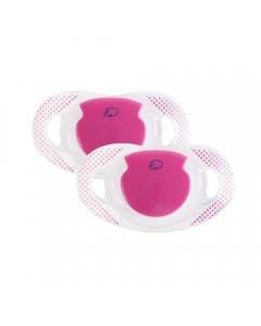 2 Chupetes Physio silicona Dummy rosado 18-36 meses