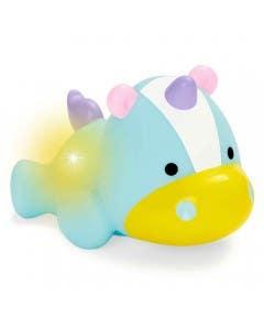 Juguete de baño unicornio luminoso
