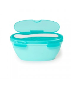 Easy-Serve Travel Bowl & Spoon- Teal