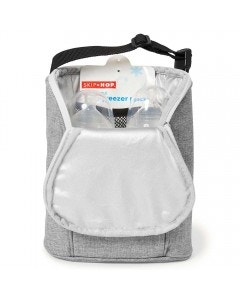 Porta mamaderas térmico doble gris melange