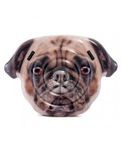 Flotador pug face island 173 x 130 cm