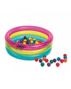 Centro de juego 3 anillos con pelotas