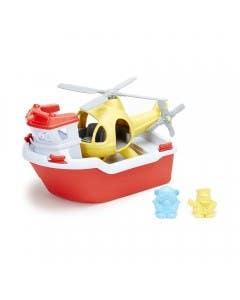 Bote de rescate con Helicoptero