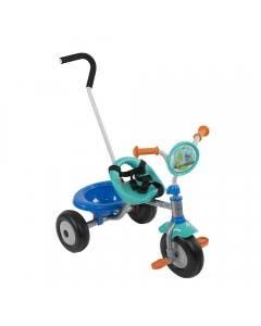 Triciclo con cinturón guía y canasto Shrek