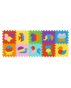 Puzzle de goma eva 10 piezas de animales