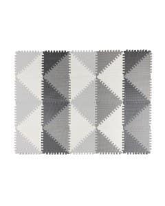 Puzzle de goma eva triángulos color neutro