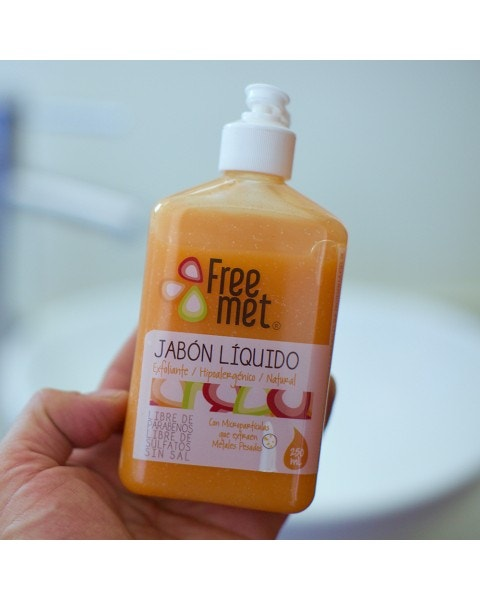 Jabón exfoliante natural Freemet