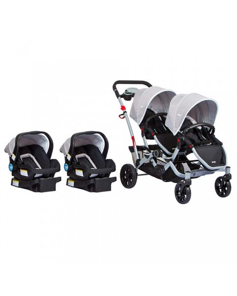 Coche duo ride gery + 2 sillas + 2 bases