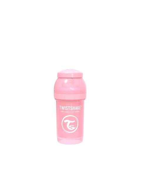 Mamadera Twistshake Anti-Cólico 180ml rosado pastel