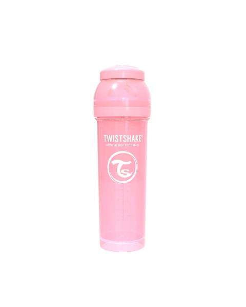 Mamadera Twistshake Anti-Cólico 330ml rosado pastel