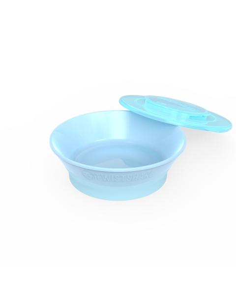 Bowl Twistshake 6+m azul pastel