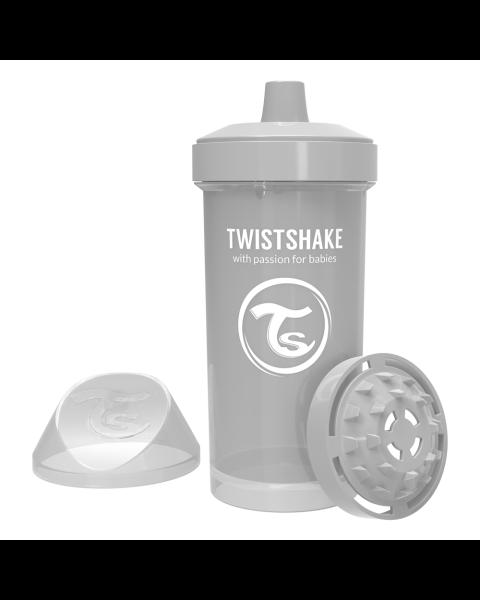 Vaso Twistshake Kid Cup 360ml 12+m gris pastel