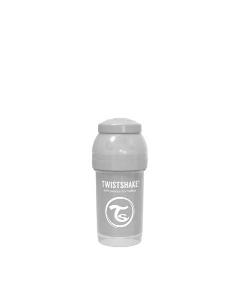 Mamadera Twistshake Anti-Cólico 180ml gris pastel