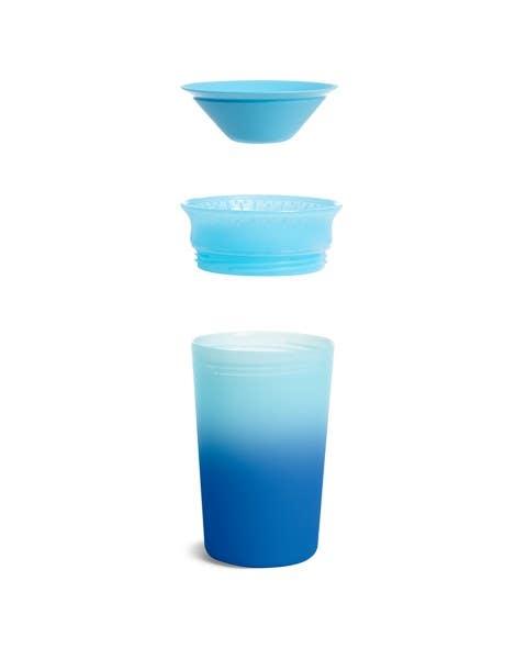 Vaso antiderrame Miracle 360 cambia de color - azul
