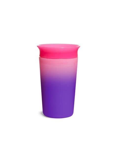 Vaso antiderrame Miracle 360 cambia de color - rosado