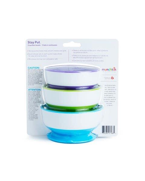 Set de 3 bowls con antideslizante