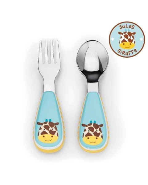 Set cuchara y tenedor Zoo Jirafa