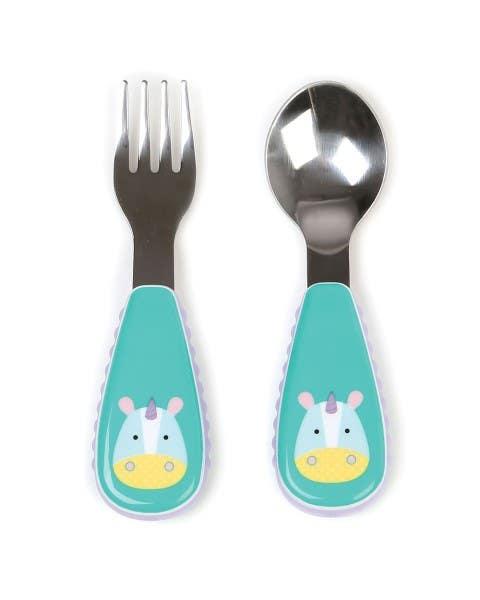 Set cuchara y tenedor Zoo Unicornio