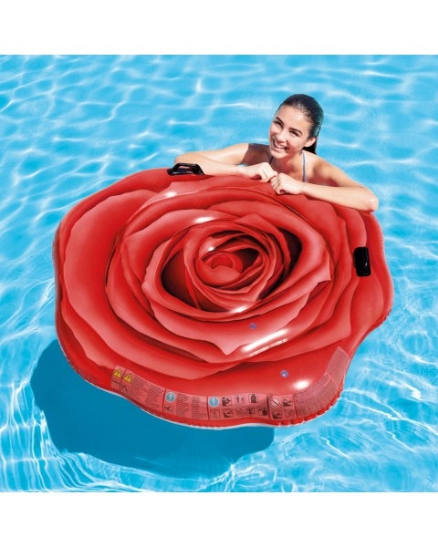 Flotador inflable red rose mat 137 x 132 cm