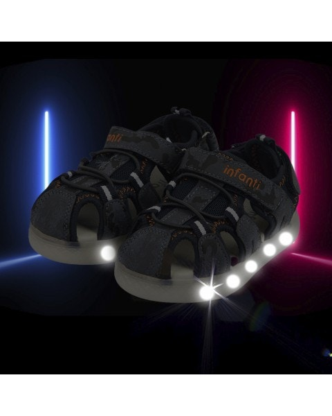 Sandalia azul con luces