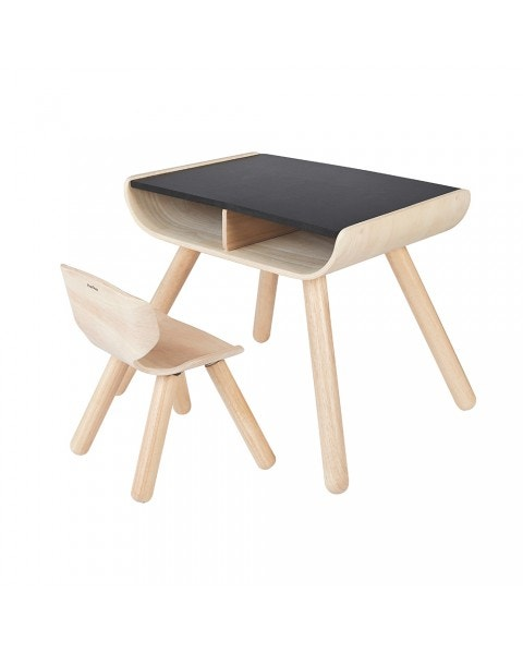 Mesa y silla Infantil Negra