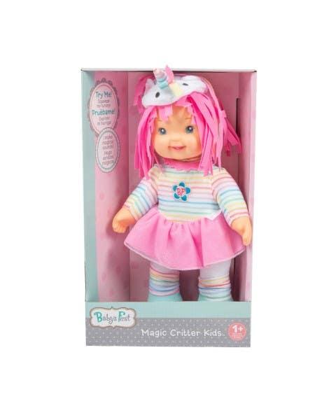 Muñeca unicornio mágico