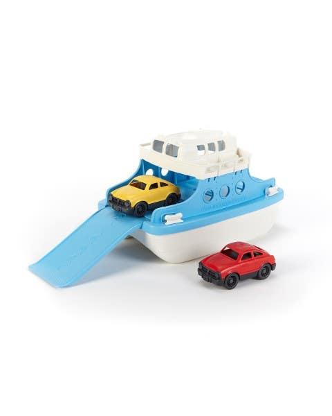 Bote ferry con autos