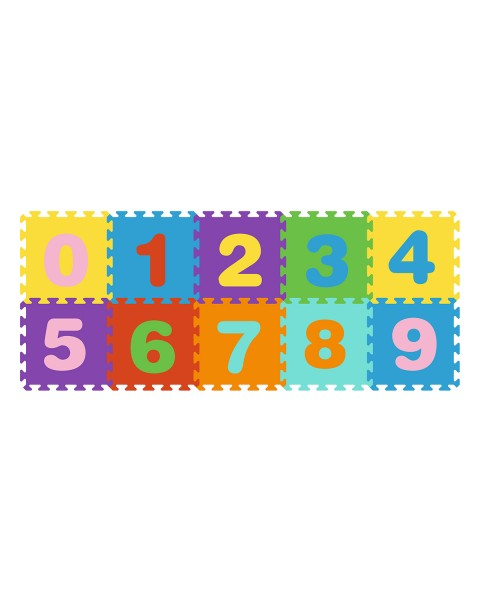 Puzzle de goma eva 10 piezas números