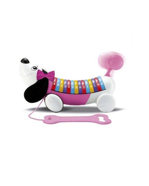 Perrito ABC rosado