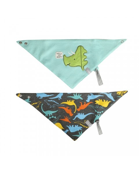 Pack 2 baberos impermeable dino