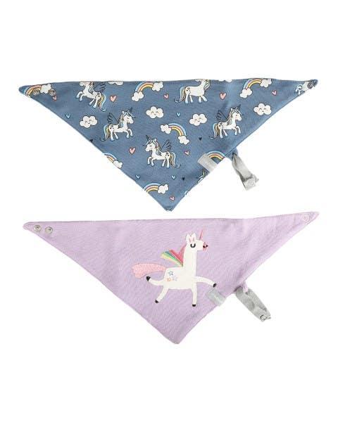 Pack 2 baberos impermeable unicornio