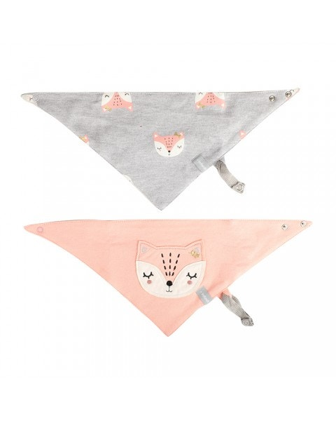 Pack 2 baberos impermeable zorrito pink