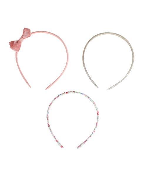 Set 3 cintillos rosado
