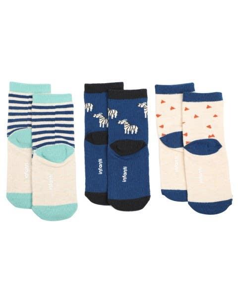 Pack 3 calcetines safari