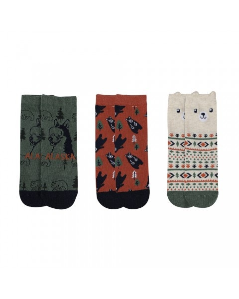Pack 3 calcetines forest niño