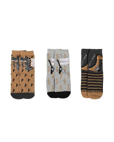 Pack de 3 calcetines Dino niño