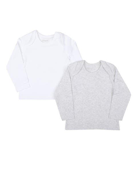 Set de 2 camisetas blanca y gris