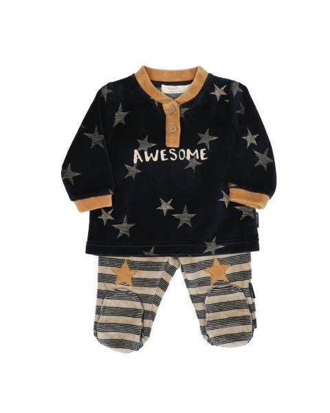 Conjunto bebé stars navy