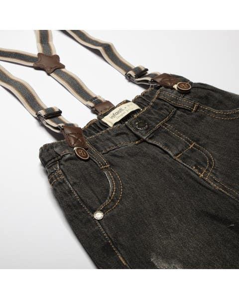 Jeans con Suspensores Niño