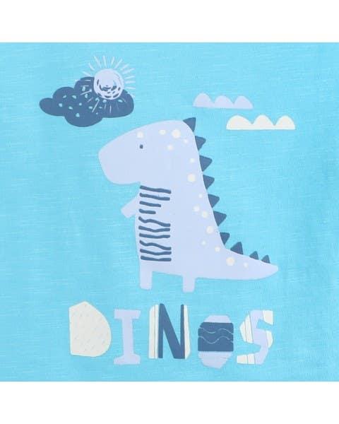 Osito Corto Dino Celeste