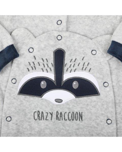 Osito bebé racoon gris