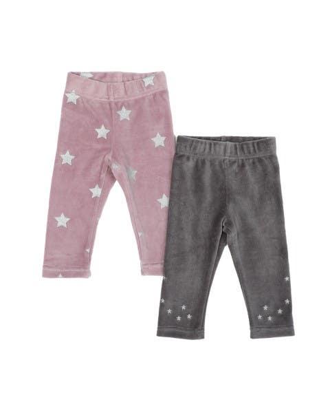 Set 2 calzas velour niña