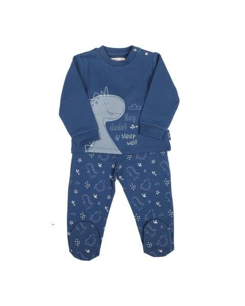 Pijama Largo Dino Azul Niño