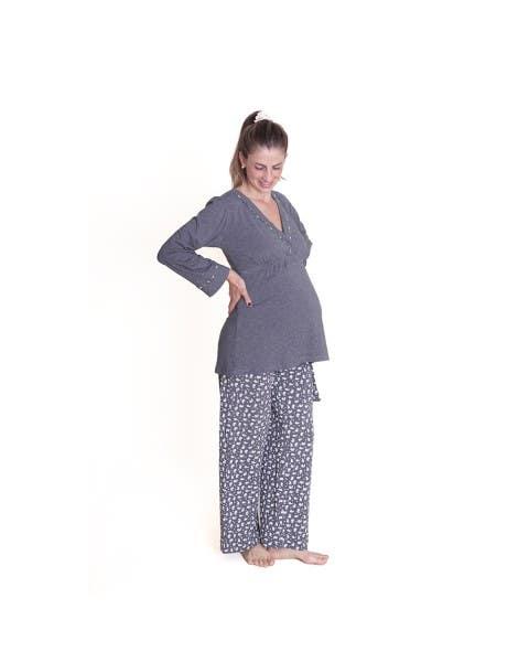 Pijama Kimono Manga Larga Flow Night